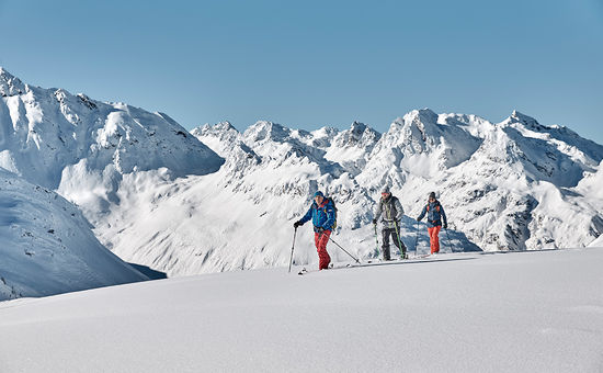 Ski tours High up for some ski touring